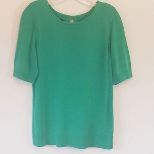Talbots Fine-Knit Sweater, Green, Sz M